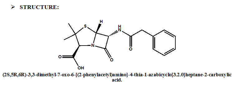 Penicillin G Synthesis, SAR, MCQ and Chemical Structure